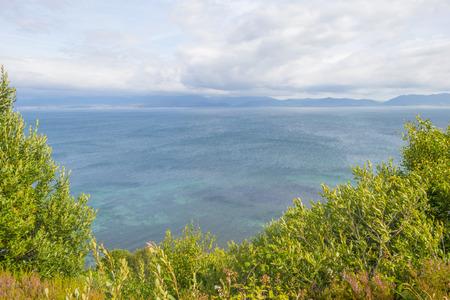 Panorama of an irish coast and beach along the atlantic ocean in summer