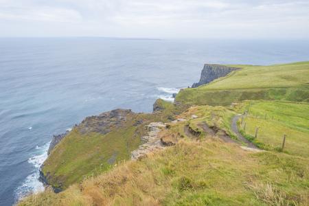 Cliffs of Moher in Ireland along the Atlantic Ocean in summer