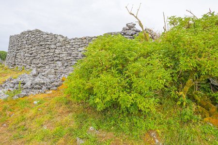 Stone walls of a medieval ring fortress in the Burren national park Reklamní fotografie