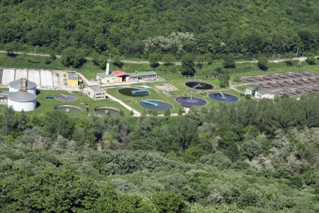 sewage treatment plant: Sewage Treatment plant in freen forest