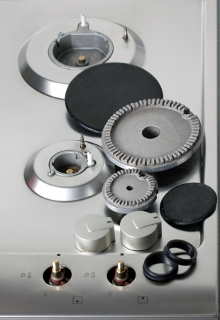 disassemble: disassemble Natural Gas Hot Plate Stock Photo