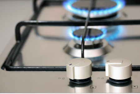 natural gas power supply, focus on control knob