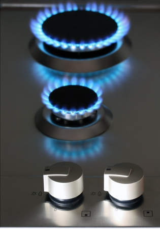natural gas power supply, focus on control knob photo