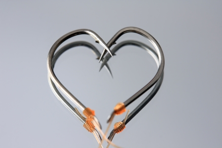miror: Heart Shape hooks on miror