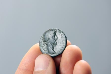 greek coins: old roman coin