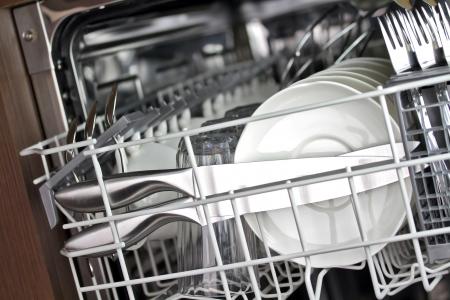 Dishwasher after cleaning process Standard-Bild
