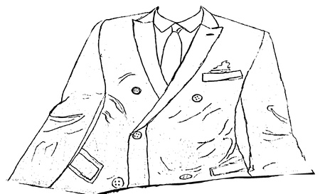 ironed: suit jacket