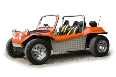 fourwheeldrive: Orange sports buggy on a white background
