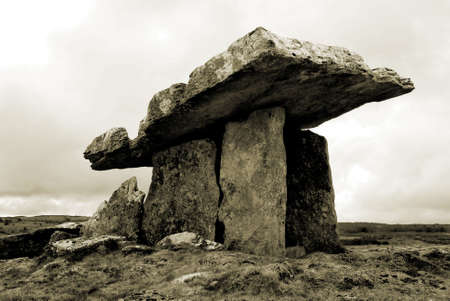 5,000 year old portal tomb in the limestone Burren area of County Clare, Ireland photo