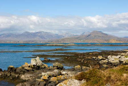 connemara: Rocky sea shore in Connemara, County Galway, Ireland Stock Photo