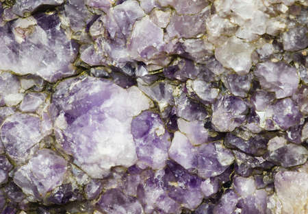 achill: Outcrop of raw amethyst crystals (believed by some to have mystical healing properties) from Achill Island, County Mayo, Ireland