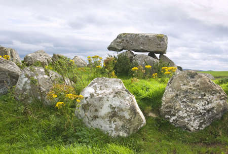 Ancient megalithic tomb at Carrowmore, County Sligo, Ireland