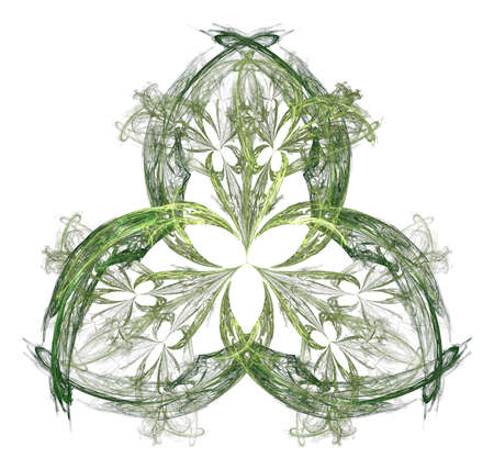 feathery: Feathery fractal shamrock abstract for St Patricks Day