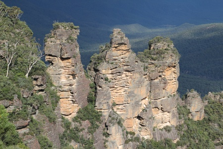 nsw: The Three Sisters in the Blue Mountains NSW Australia