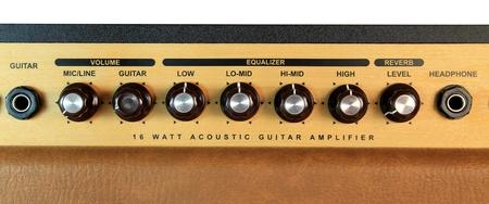 A guitar amplifier dials Stock Photo