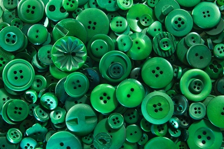 sewing buttons: Green Buttons Stock Photo