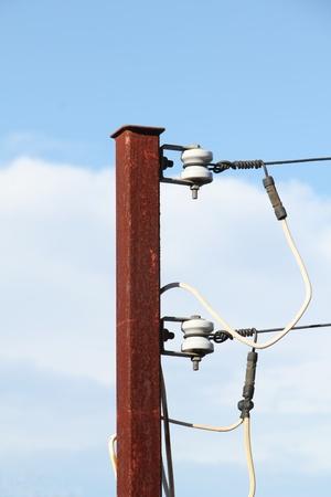 Rusty Power Pole