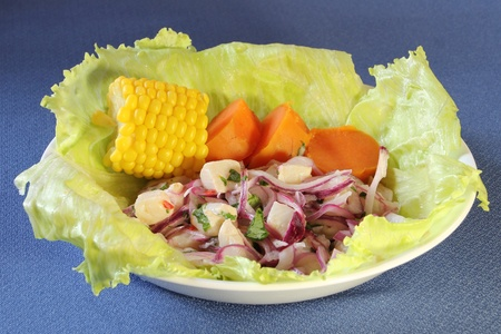A plate of ceviche Stock Photo