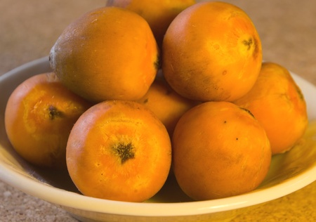 Orange coloured palm tree fruit