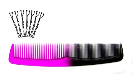 A comb with bobby pins in the shape of a crown
