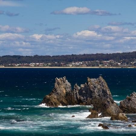 jagged: Seascape with Jagged Rocks
