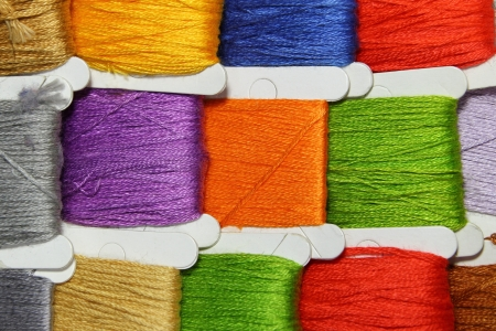 Coloured Threads Stock Photo