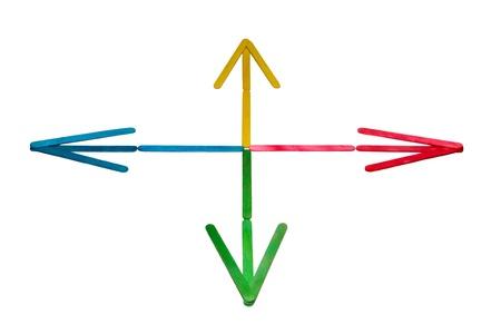 Coloured Arrows Stock Photo