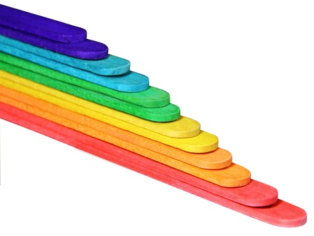 Coloured sticks forming a stairway