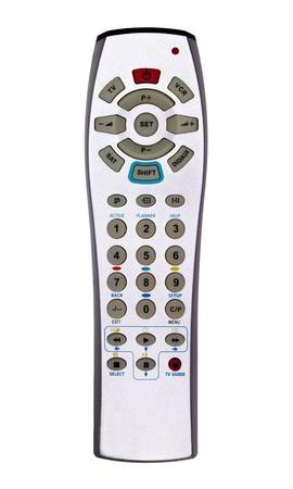 Silver TV DVD VCR remote controller