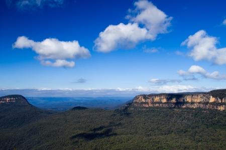 Blue Mountains Cliff Stock Photo