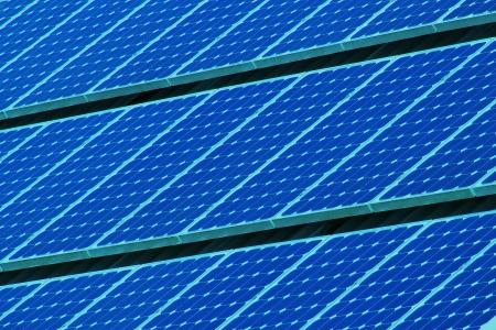 Solar Panels Lines Stock Photo