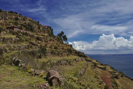 Island Terraces Stock Photo