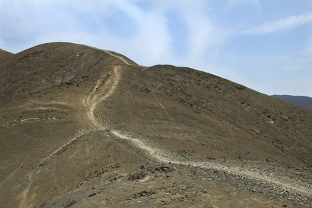 Desert Mountain Track Stock Photo