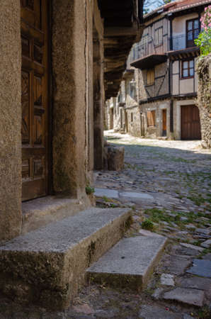 Streets of the medieval village of La Alberca, Salamanca, Spain Stock Photo
