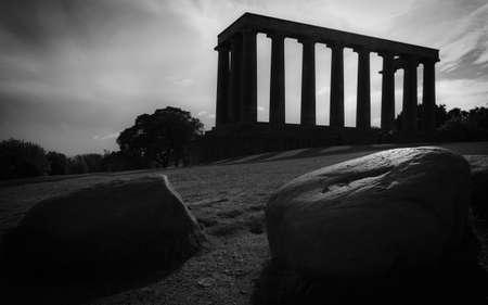National Monument, Calton Hill. Edinburgh, Scotland