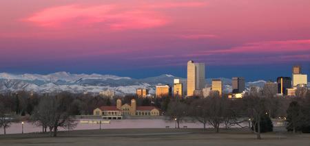 Denver Colorado Skyline Landscape 스톡 콘텐츠