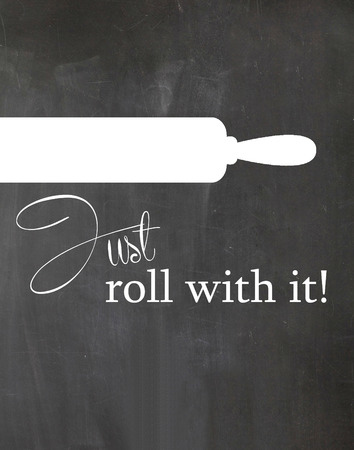 Rolling Pin on Kitchen Chalkboard