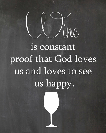 Kitchen Chalkboard Drink Wine Glass Motivation Quote