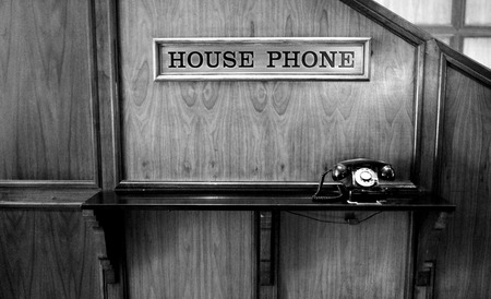 Rotary black phone antique old fashioned