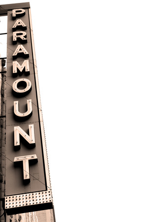 Paramount Movie Theater Marquee Neon Sign
