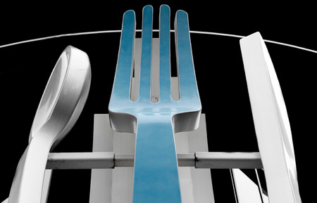 Kitchen Silverware turquoise Fork Spoon Knife Utensils