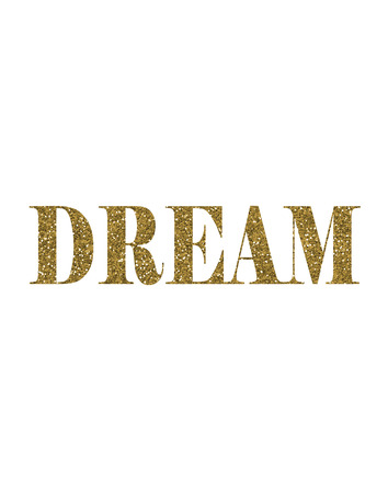 Gold Glitter Dream Text Font