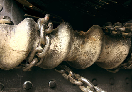 bobina: Cadena de metal enlace Coil Taladro Foto de archivo