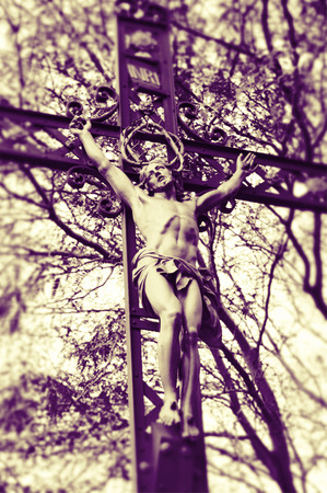 Crucifixion Statue Reklamní fotografie - 58011140