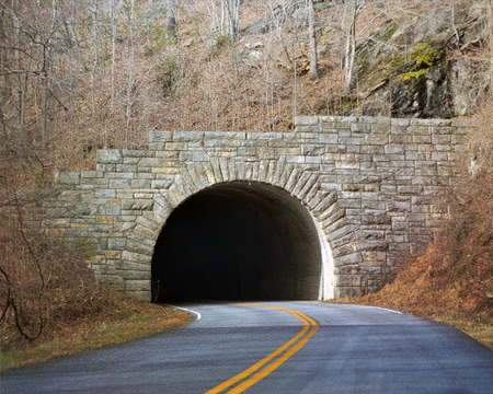 Tunnel in mountain photo