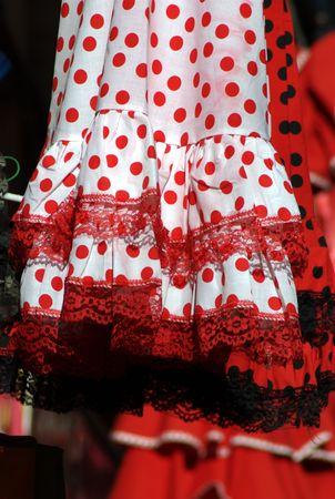 Detail of a flamenca dress 1 Stock Photo