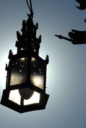 セビリアの街灯の詳細。私は異なる効果を生み出すために太陽を使っていた
