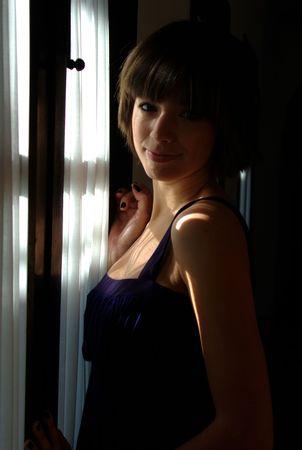 Next to the window Stock Photo