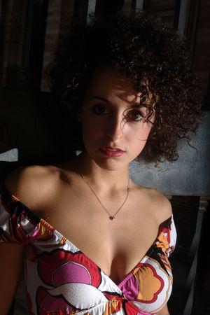 tetona: En un vestido de colores 03 Foto de archivo