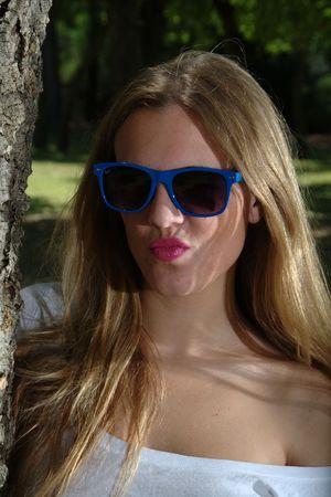 White dress and sunglasses 02